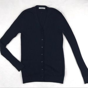 Vince Cashmere Button-Up Cardigan Sweater